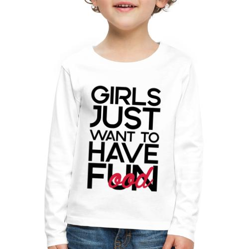 Girls just want to have food - Kinderen Premium shirt met lange mouwen