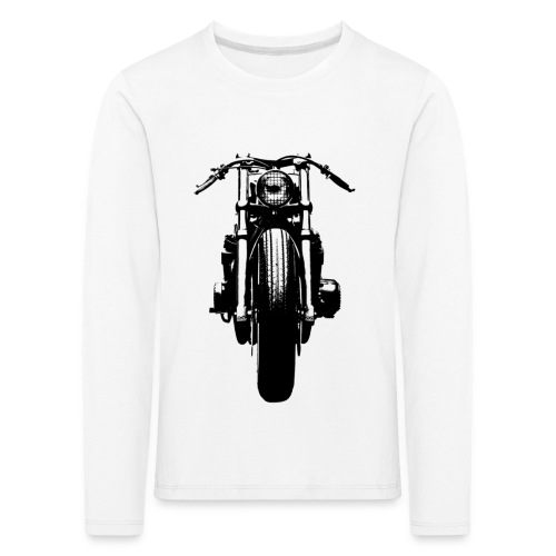 Motorcycle Front - Kids' Premium Longsleeve Shirt