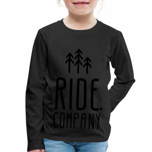 RIDE.company Logo - Kinder Premium Langarmshirt