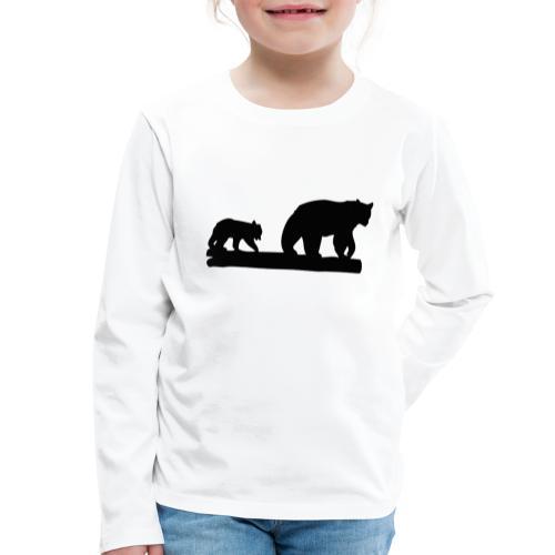 Bären Bär Grizzly Wildnis Natur Raubtier - Kinder Premium Langarmshirt