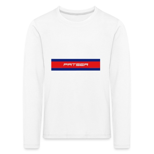 PATSER - Kinderen Premium shirt met lange mouwen
