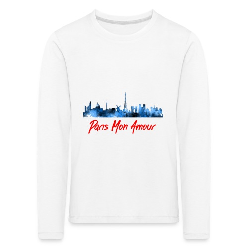 Paris Fashion Design Back - T-shirt manches longues Premium Enfant