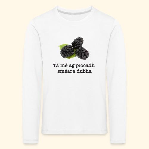 Picking blackberries - Kids' Premium Longsleeve Shirt