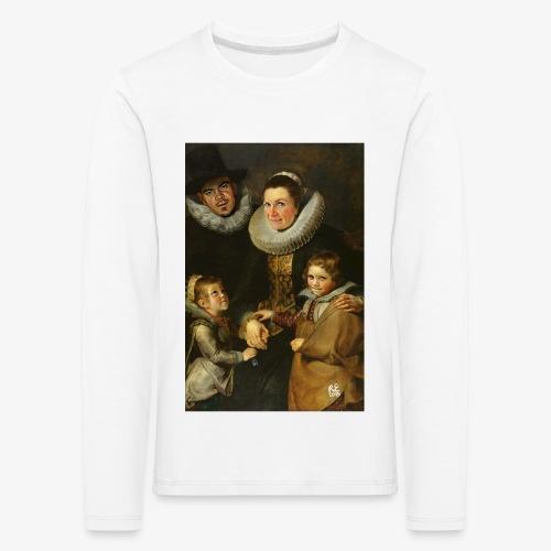 familie-engels2-canvas - Kinderen Premium shirt met lange mouwen