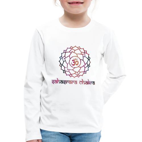 Sahasrara Kronenchakra Bunt Yoga Chakra Motiv - Kinder Premium Langarmshirt