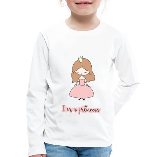 I'm a Princess - Maglietta Premium a manica lunga per bambini
