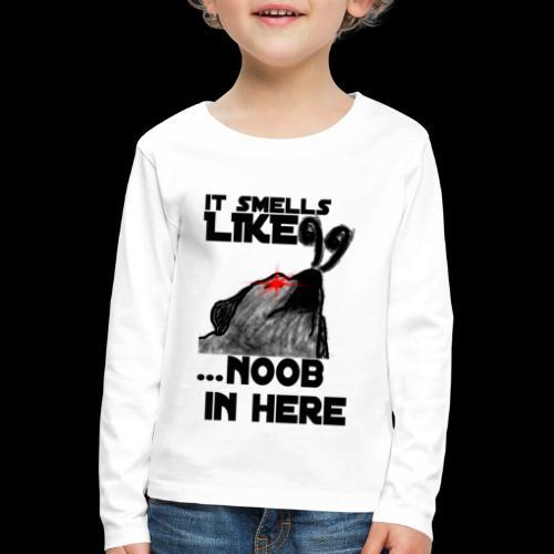 Noob Gaming Gamer Pro - Kinder Premium Langarmshirt