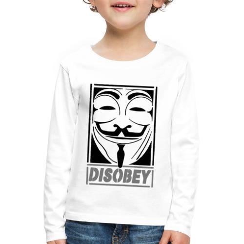 disobey - Børne premium T-shirt med lange ærmer