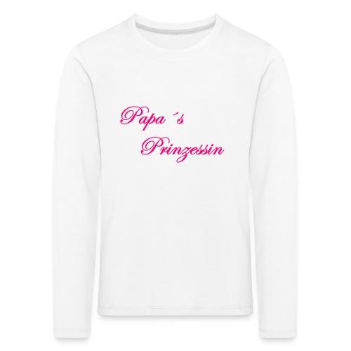 Papa s Prinzessin weiss pink - Kinder Premium Langarmshirt