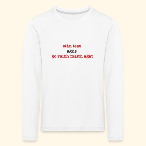 Good bye and thank you - Kids' Premium Longsleeve Shirt