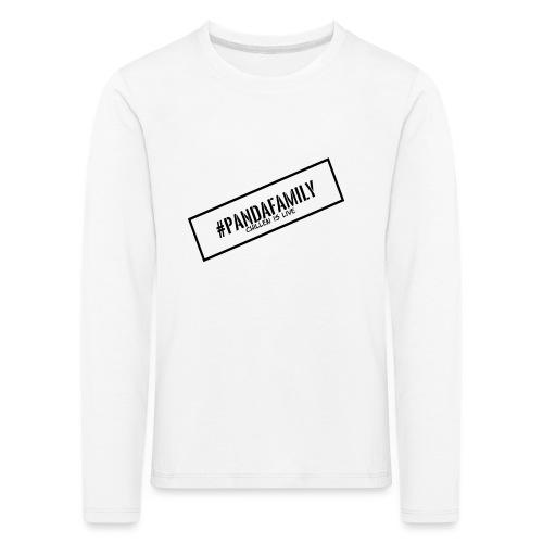 #PandaFamily [Balken] - Kinder Premium Langarmshirt
