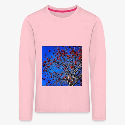 Red Flowers and Blue Sky - Maglietta Premium a manica lunga per bambini