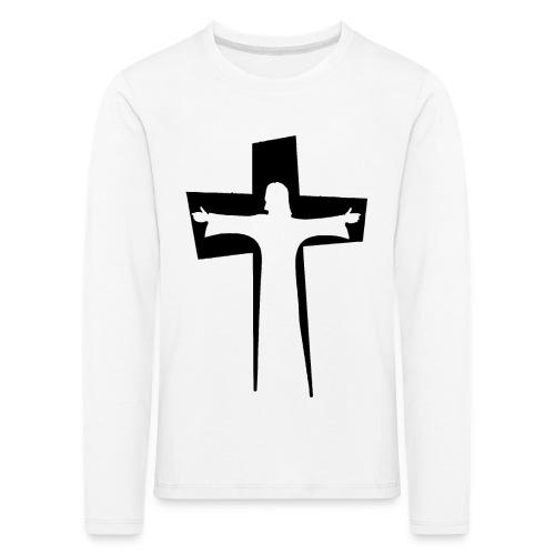 Abstrakt Jesus på korset - Långärmad premium-T-shirt barn
