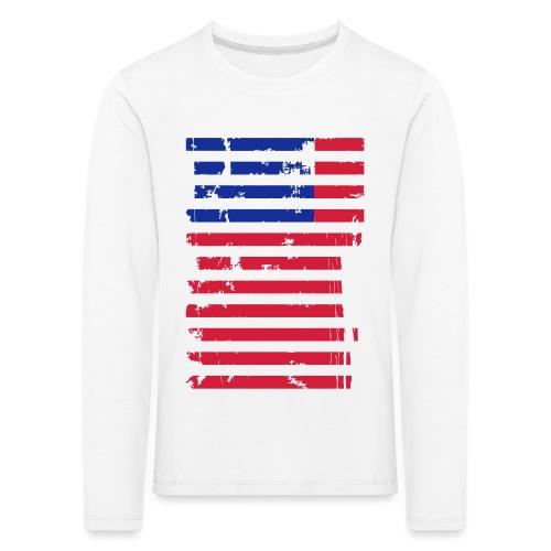 FlagUSA Casual - Camiseta de manga larga premium niño