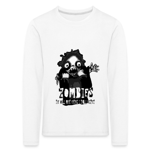 zombies - the only meat eaters i truly respect sv - Långärmad premium-T-shirt barn