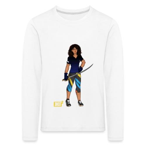 Sabre fencer - Kids' Premium Longsleeve Shirt