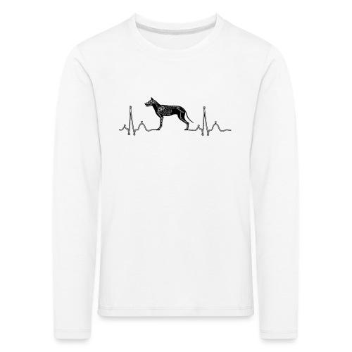 ECG met hond - Kinderen Premium shirt met lange mouwen