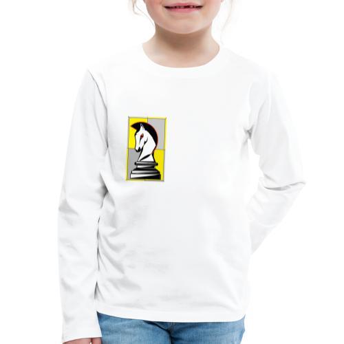 cavallo Scacchi Vers 2 - Maglietta Premium a manica lunga per bambini
