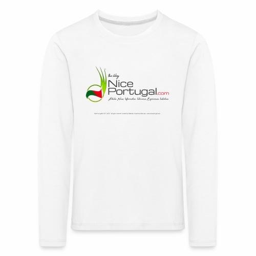 NicePortugal.com Logo - Maglietta Premium a manica lunga per bambini