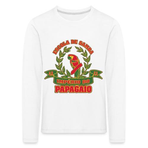Papagaio logo - Lasten premium pitkähihainen t-paita