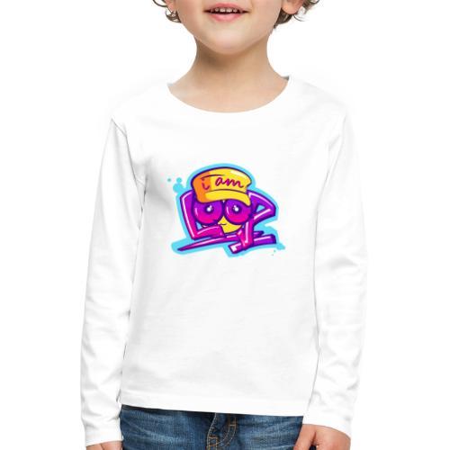 Graffiti I AM LOOP - Kinder Premium Langarmshirt