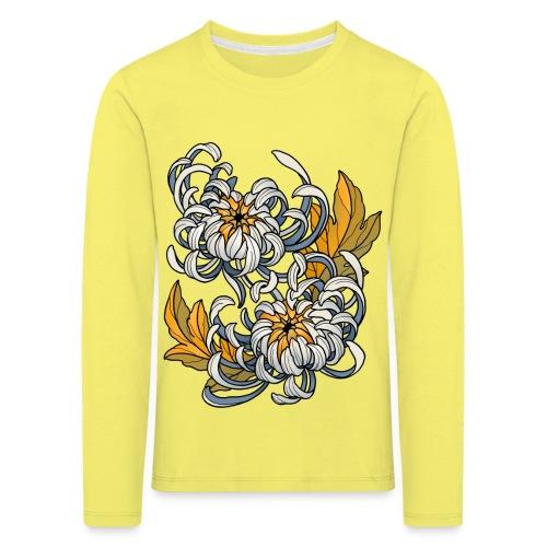 Chrysanthèmes enlacés - T-shirt manches longues Premium Enfant