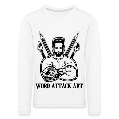 Word Attack Art - Kinder Premium Langarmshirt