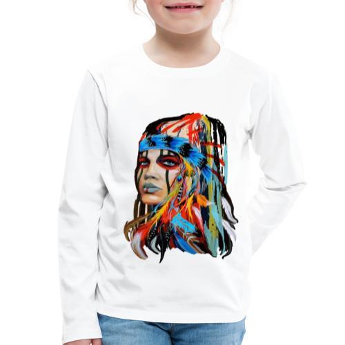 Pióra i pióropusze - Koszulka dziecięca Premium z długim rękawem