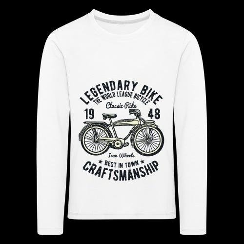 Legendary Bike - Radfahren oldschool - Kinder Premium Langarmshirt