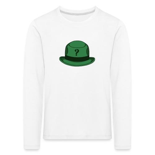 Grüner Rätsel Hut Riddler - Kinder Premium Langarmshirt