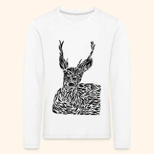 deer black and white - Lasten premium pitkähihainen t-paita
