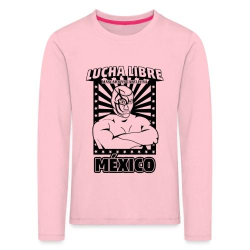 Lucha Libre Mexico Negro - Camiseta de manga larga premium niño