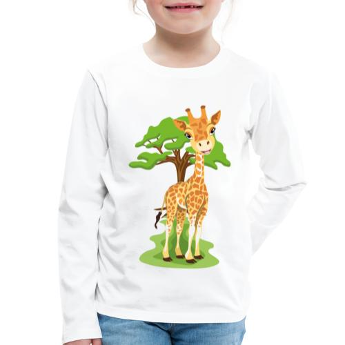 Giraff - Långärmad premium-T-shirt barn
