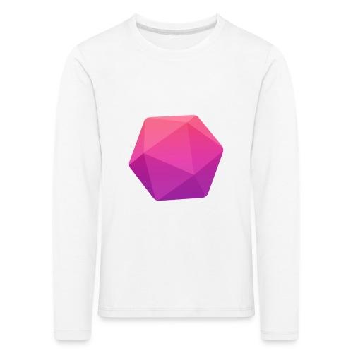 Pink D20 - D&D Dungeons and dragons dnd - Lasten premium pitkähihainen t-paita