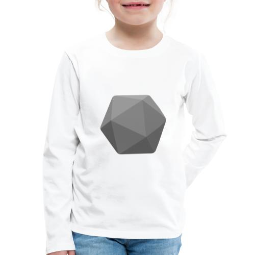 Grey d20 - D&D Dungeons and dragons dnd - T-shirt manches longues Premium Enfant