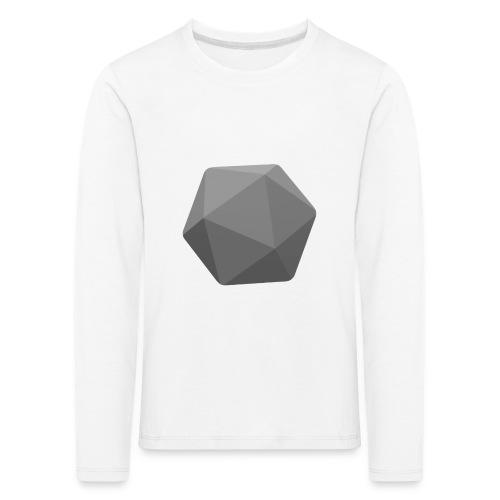 Grey d20 - D&D Dungeons and dragons dnd - Lasten premium pitkähihainen t-paita
