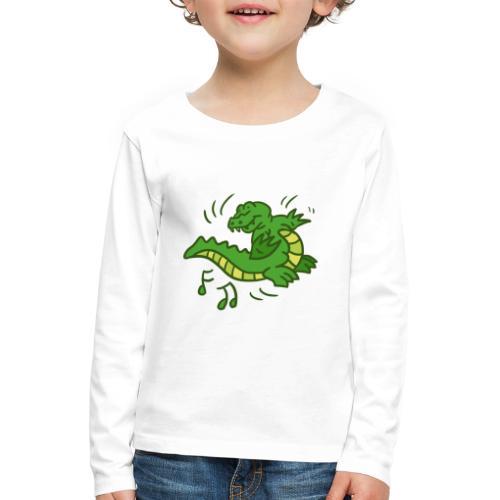 dancing crocodile - Långärmad premium-T-shirt barn