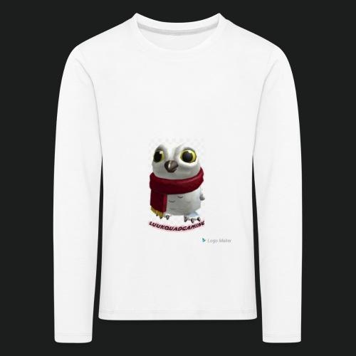 Merch white snow owl - Kinderen Premium shirt met lange mouwen