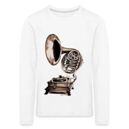Grammo-Horn - Kinder Premium Langarmshirt