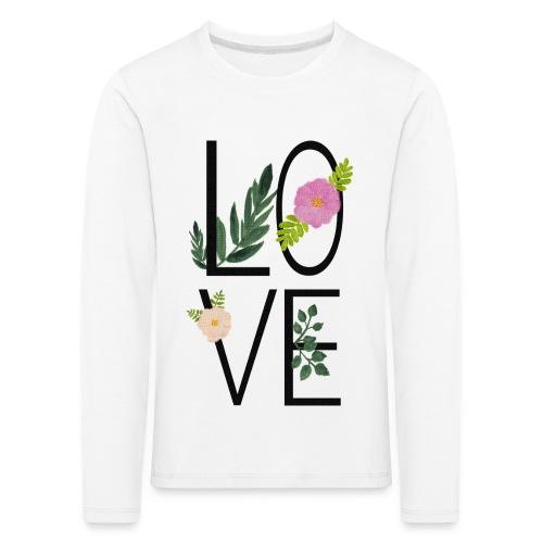 Love Sign with flowers - Kids' Premium Longsleeve Shirt