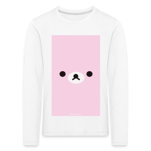 Cute Pink Bear Merch - Kids' Premium Longsleeve Shirt