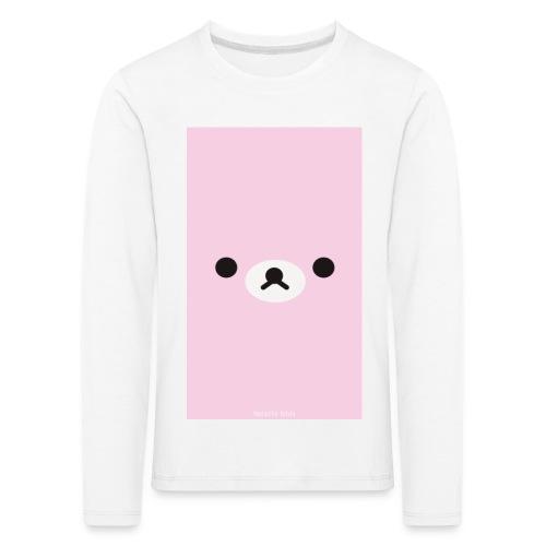 Cute Pink Bear Merch - Kids' Premium Longsleeve Shirt