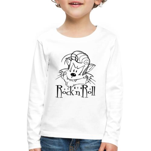 Rock'n'Roll Cat - Kinder Premium Langarmshirt
