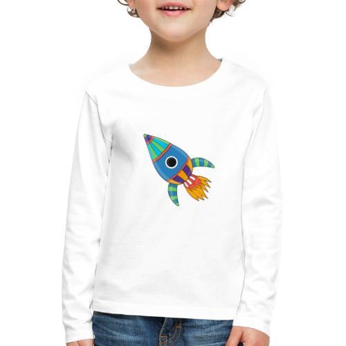 Bunte Rakete - Kinder Premium Langarmshirt
