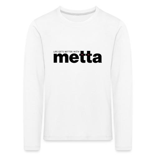 METTA_WHITE - Kids' Premium Longsleeve Shirt