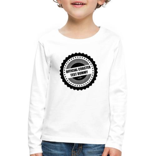 Mannequin d'essai officiel de montagnes russes - T-shirt manches longues Premium Enfant