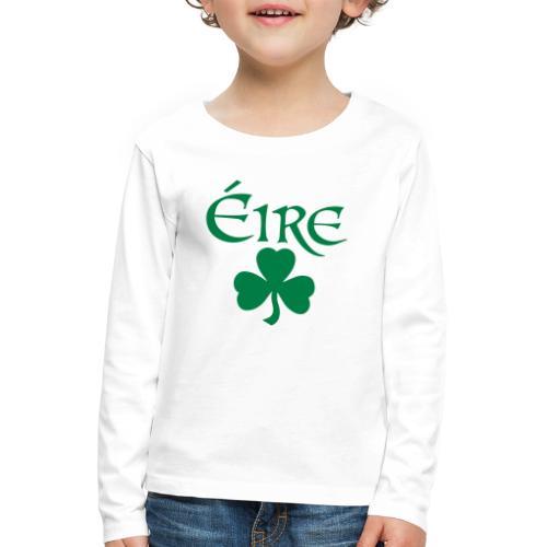 Eire Shamrock Ireland logo - Kids' Premium Longsleeve Shirt
