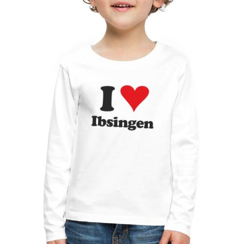 I Love Ibsingen - Kinder Premium Langarmshirt