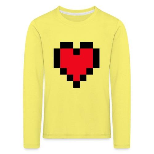 Pixel Heart - Kinderen Premium shirt met lange mouwen
