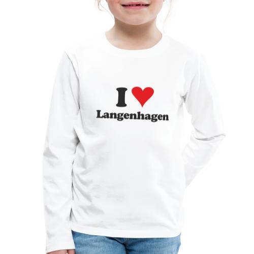 I Love Langenhagen - Kinder Premium Langarmshirt